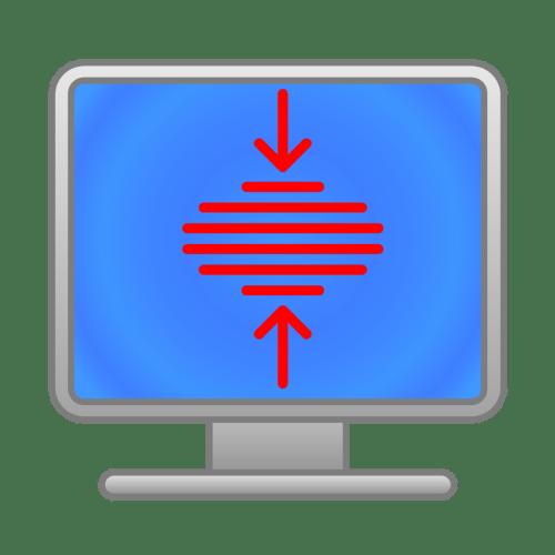 как сузить экран монитора на компьютере