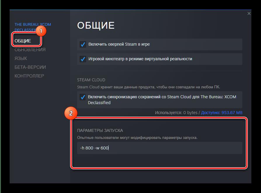 Параметры запуска игры в Steam для устранения ошибки Input Not Supported в Виндовс 10