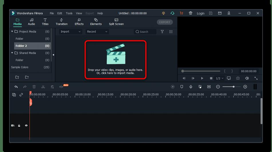 Переход к выбору файла для обрезки видео на компьютере через Wondershare Filmora