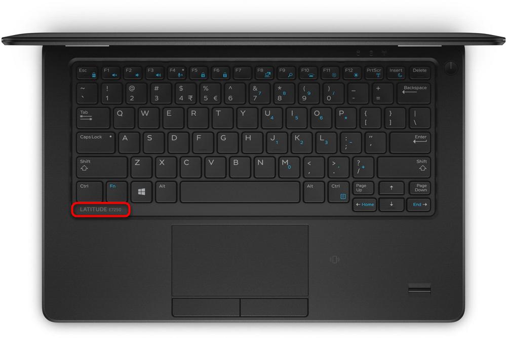 Просмотр названия модели ноутбука Dell под крышкой устройства