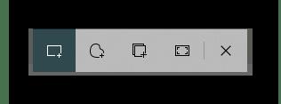 Панель приложения Набросок на фрагменте экрана для создания скриншота на ноутбуке Samsung