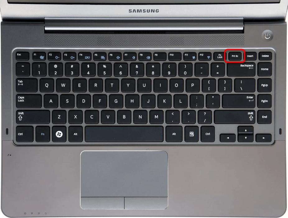 Расположение клавиши Prt Sc на клавиатуре у старых моделей ноутбуков Samsung