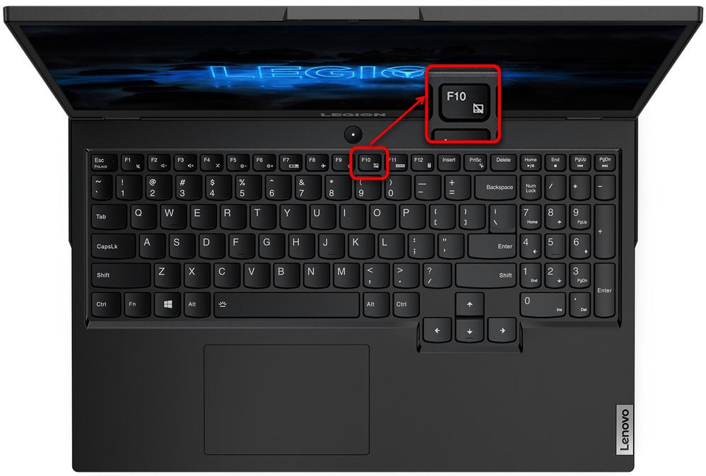 Включение тачпада на игровом ноутбуке Lenovo при помощи горячей клавиши