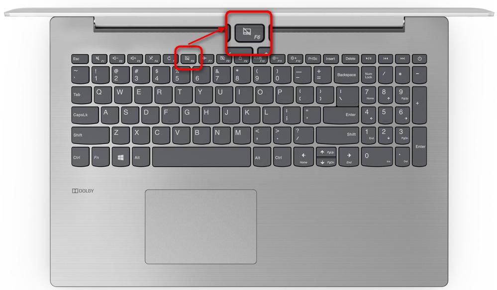 Включение тачпада на офисном ноутбуке Lenovo при помощи горячей клавиши