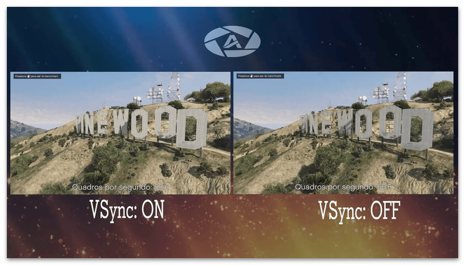 Выбор значения вертикального синхроимпульса у NVIDIA