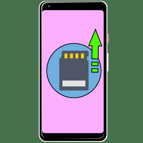 как вставить карту памяти в телефон