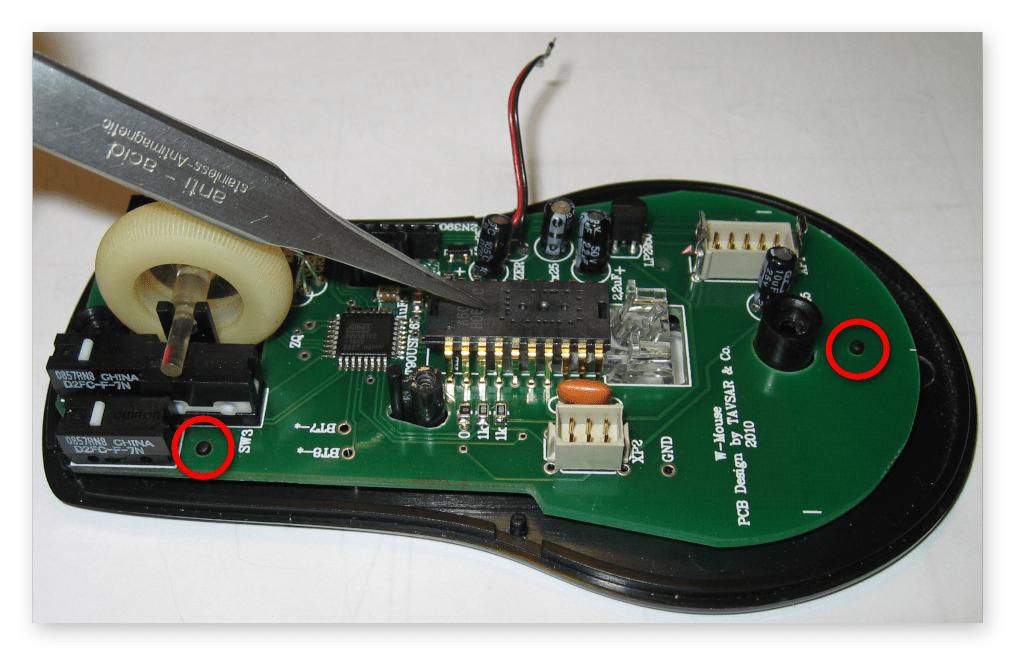 как разобрать беспроводную мышку-09