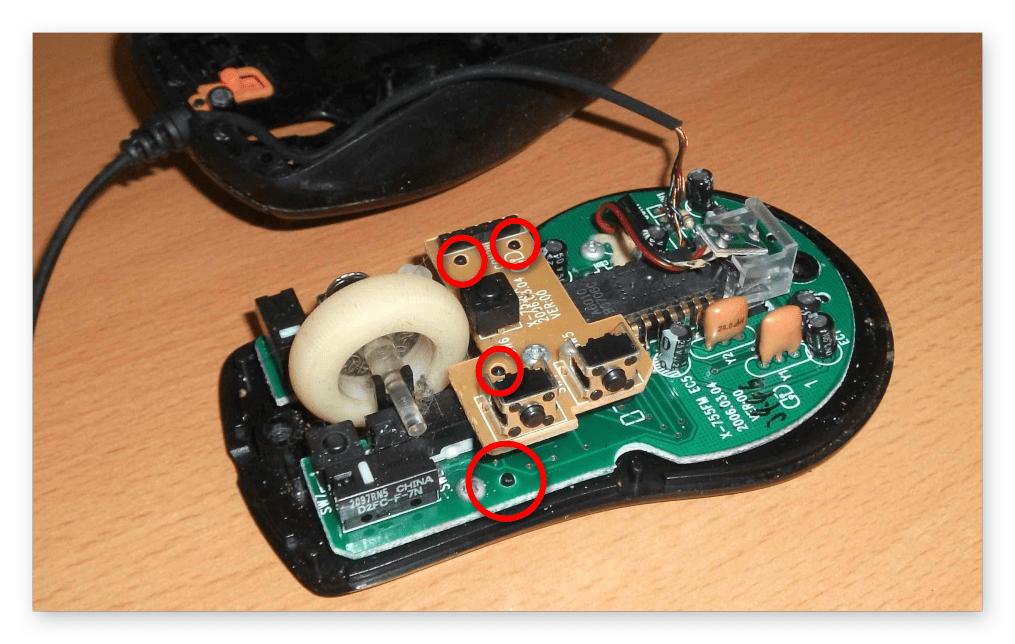 как разобрать компьютерную мышь-006