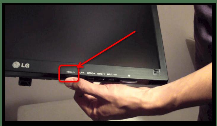 зелёный экран монитора что делать-5