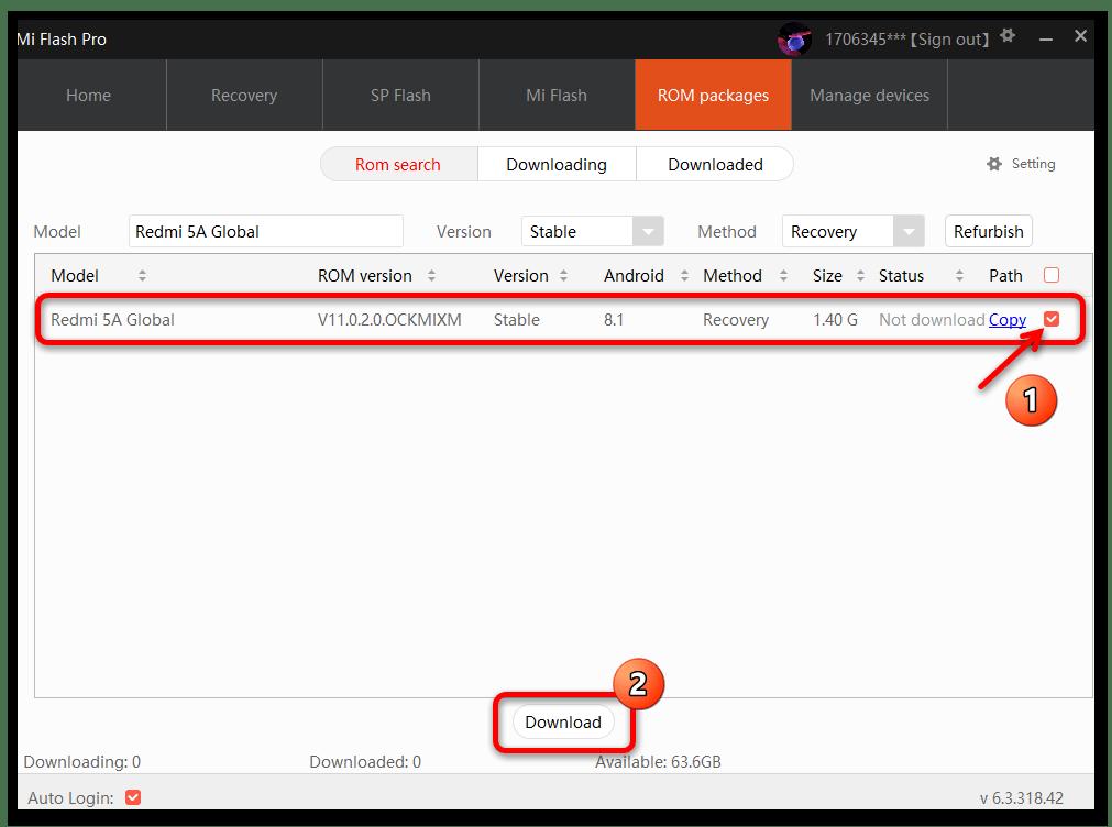 Прошивка Xiaomi через MiFlash PRO 16