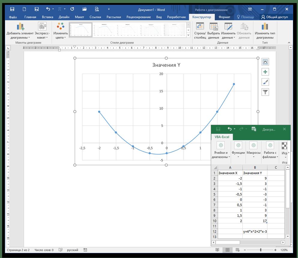 как нарисовать график в ворде_3