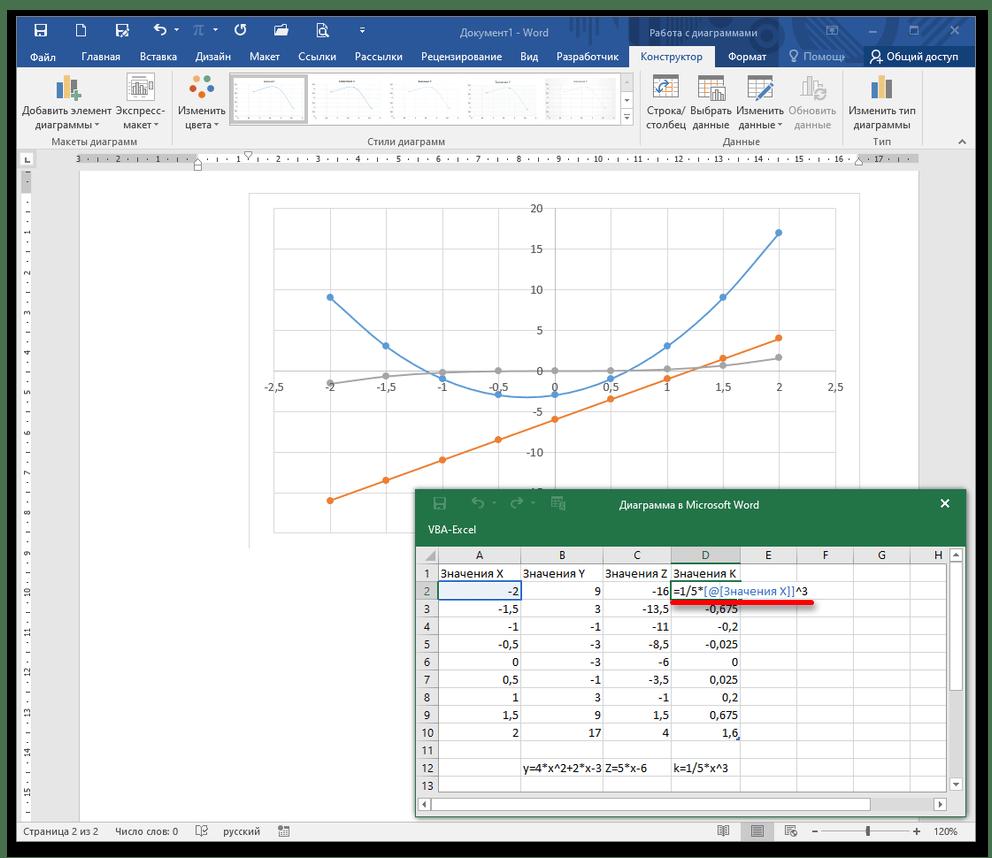 как нарисовать график в ворде_5
