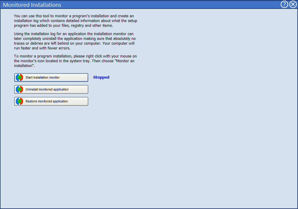 Мониторинг устанавливаемых программ в Advanced Uninstaller Pro