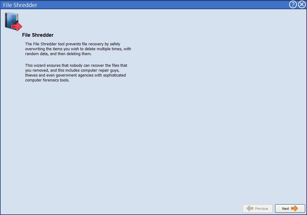 Уничтожитель файлов в Advanced Uninstaller Pro