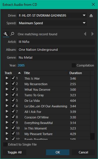создание компакт-дисков в Adobe Audition