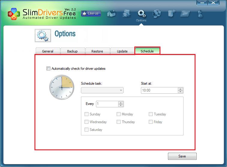 Автоматическая проверка на наличие новых драйверов в SlimDrivers