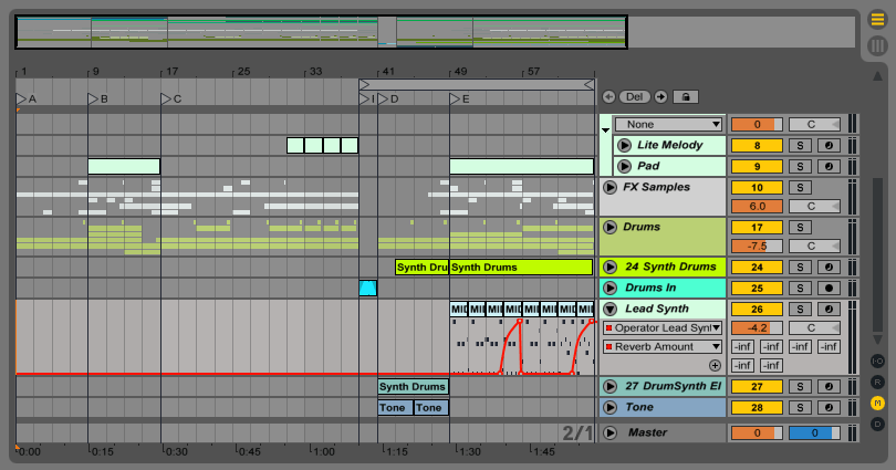 Автоматизация в Ableton Live