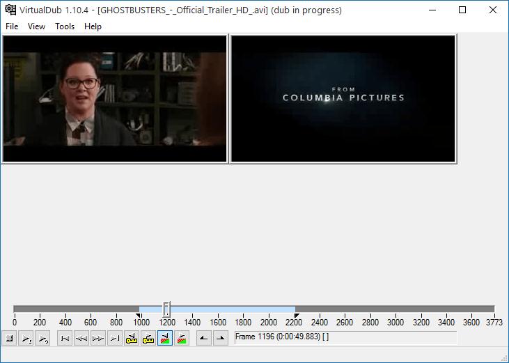 Базовое редактирование в VirtualDub