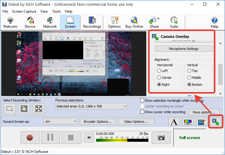 Добавление съемки с веб-камеры в Debut Video Capture