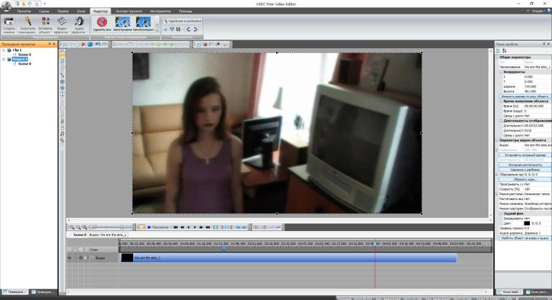 Интерфейс программы Free Video Editor