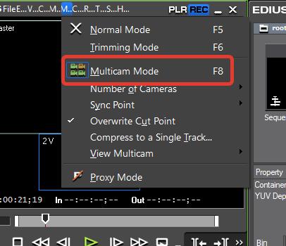 Многокамерный режим в EDIUS Pro