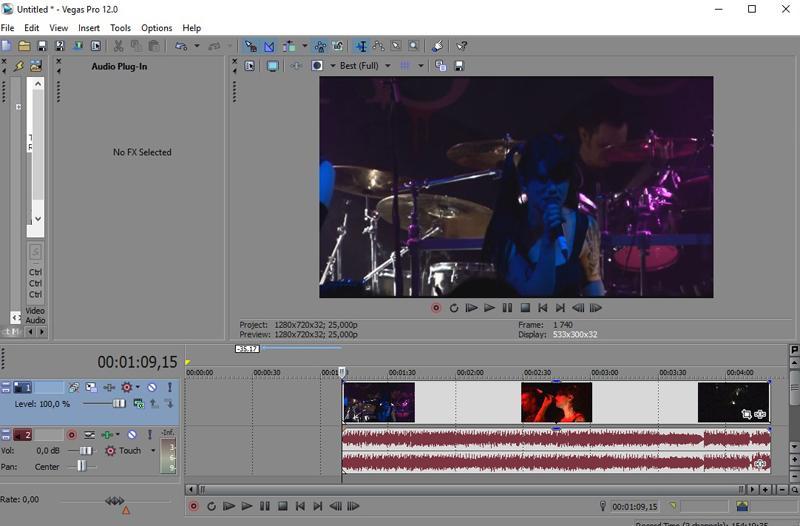 Обрезанное начало видео в Сони Вегас Про