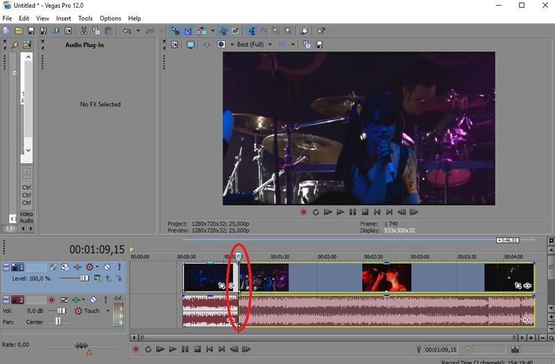 Обрезанное в Sony Vegas Pro видео