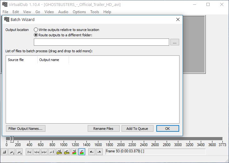 Пакетное редактирование в VirtualDub