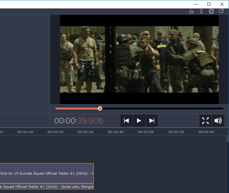 Предпросмотр изменений в Movavi Video Editor