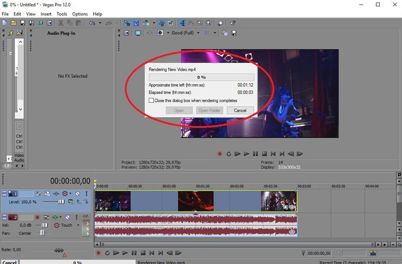 Рендеринг видео в Сони Вегас Про