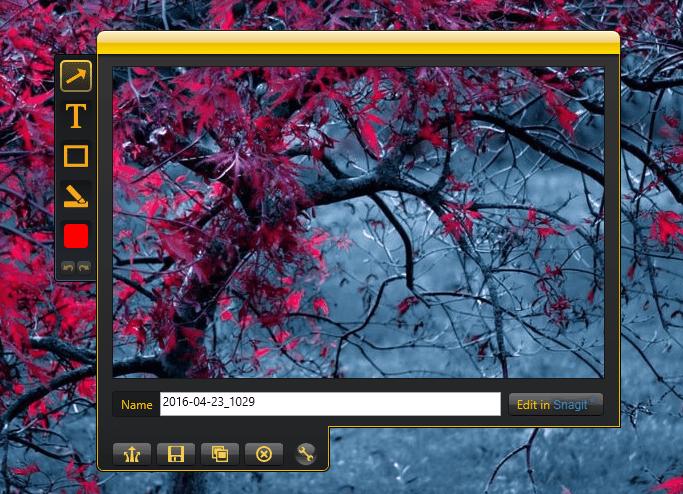 Создание скриншотов в Jing