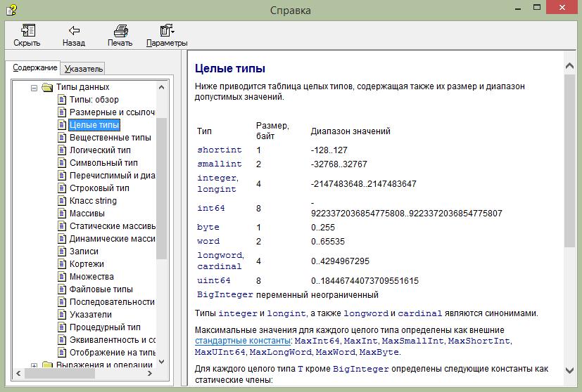 Справка PascalABC.NET