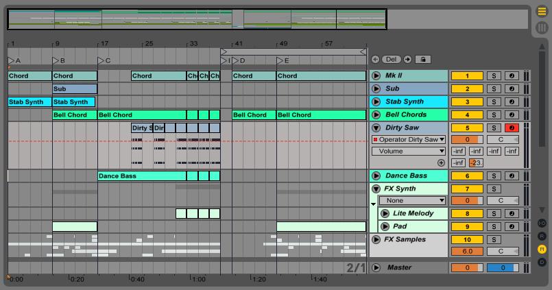 Сведение в Ableton Live