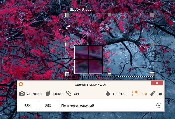 Захват скриншотов в Icecream Screen Recorder