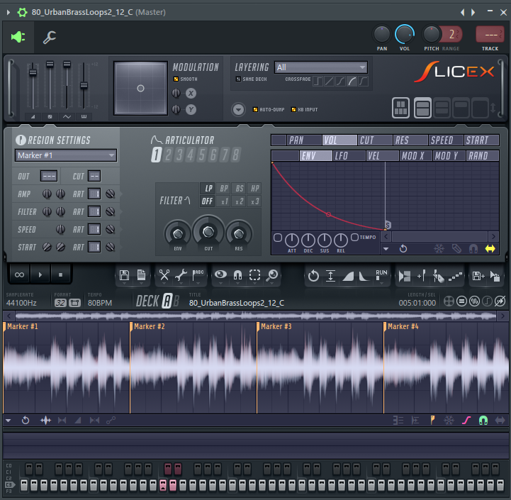 сэмплирование в Slicex в FL Studio