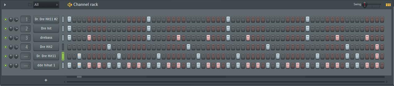 ударные в патерне FL Studio