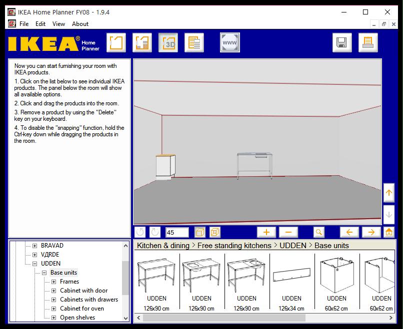 3D-просмотр в IKEA Home Planner