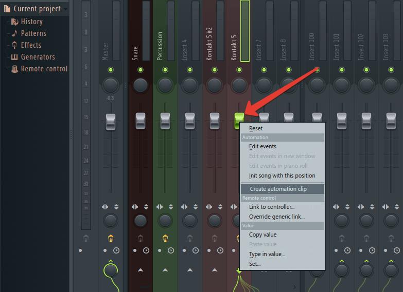 Автоматизация в FL Studio