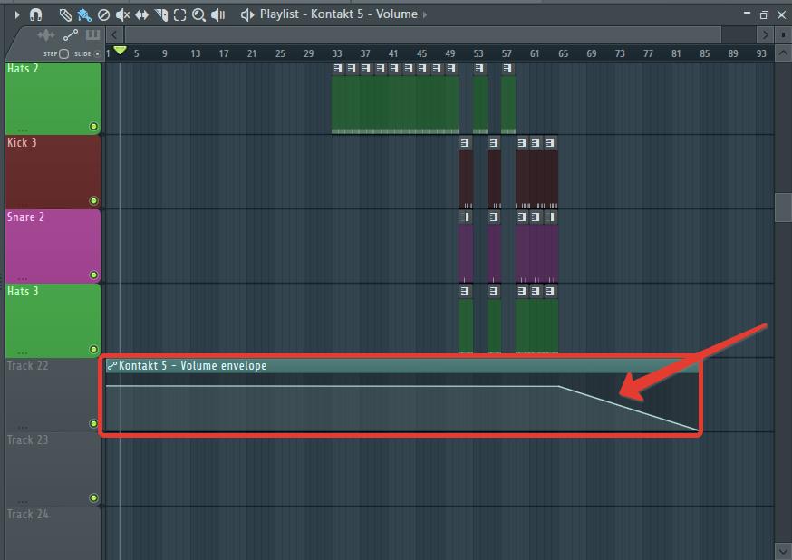 Автоматизация затухания пианино в FL Studio