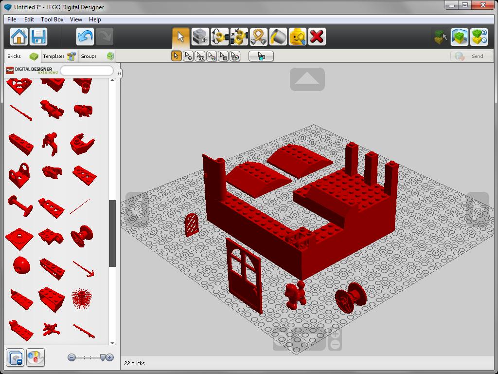 Библиотечные элементы в lego Digital Designer