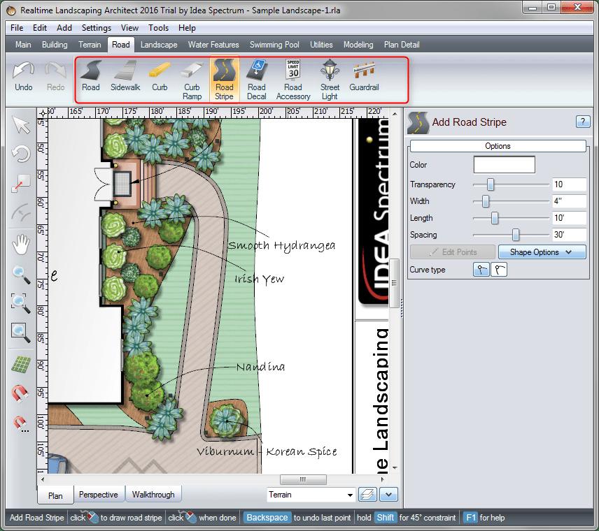 Добавление дорожек в Realtime Landscaping Architect