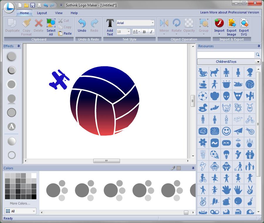 Добавление формы в Sothink Logo Maker