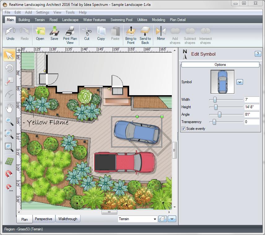 Добавление текстов и символов в Realtime Landscaping Architect