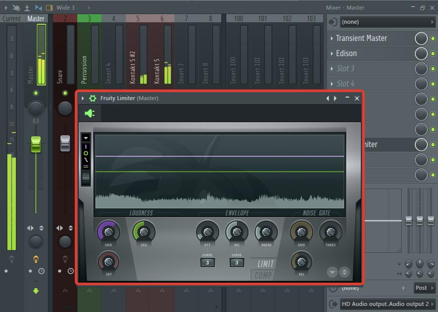 Эфект на мастер-канал в FL Studio