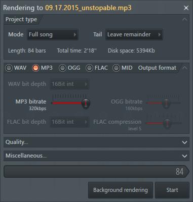 Экспорт MP3 в FL Studio