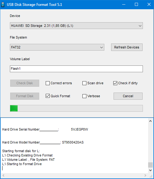 Форматирование HP USB Disk Storage Format Tool