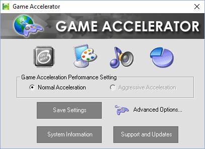 Главное окно Game Accelerator