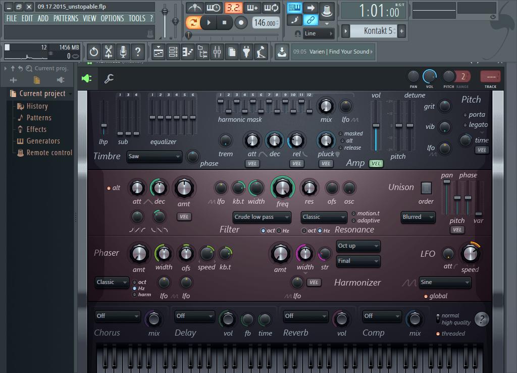 Инструмент в FL Studio