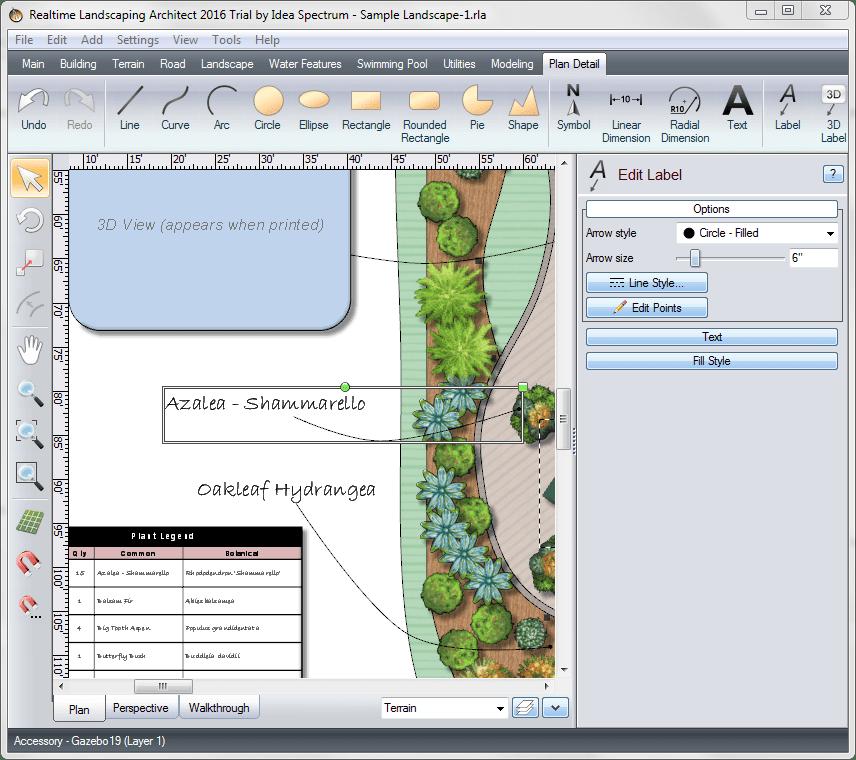 Инструменты черчения в Realtime Landscaping Architect