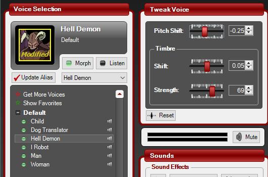 Изменение голоса в MorphVox Pro